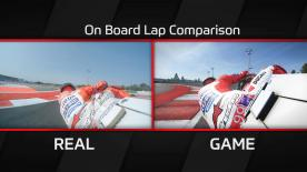Real-time premier class racing and MotoGP™17 gameplay compared: Jorge Lorenzo rides the Ducati at Misano