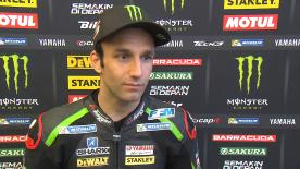 Johann Zarco concluded Friday at the #AragonGP in third, the fastest Yamaha on the timesheets