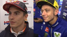 The fastest MotoGP™ riders of the day give us feedback on the Free Practice sessions at the #AragonGP.