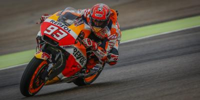 Marquez fastest in damp FP1