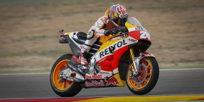 Pedrosa conquers mixed conditions for P1 at Aragon