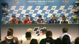 Les réactions des pilotes qualifiés en première ligne de la grille MotoGP™.