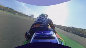 Sali sulla moto di Viñales con spettacolari immagini a 360. Sarà come essere sull'asfalto del MotorLand
