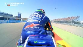 Relive Viñales' pole-winning lap's pole setting lap at MotorLand Aragon, complete with telemetry data.