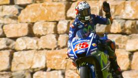 Maverick Viñales took an incredible fifth pole of 2017 at Aragon with Lorenzo and Rossi completing the front row, as Marquez crashed out