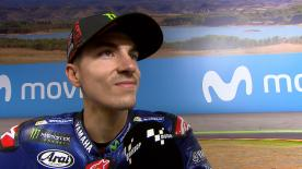 The Movistar Yamaha rider was satisfied taking his fifth pole of the season, the first in Spain