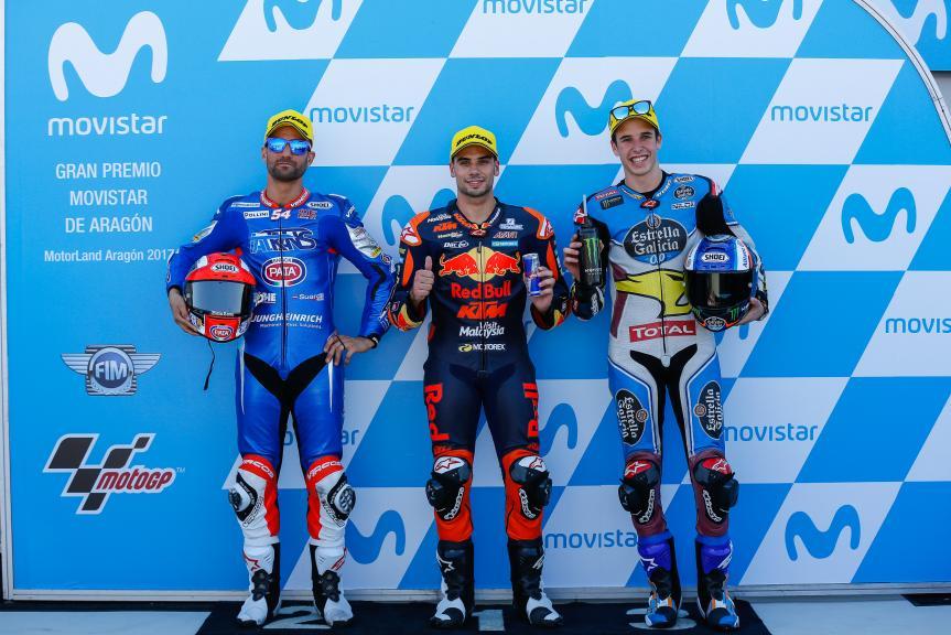 Miguel Oliveira, Mattia Pasini, Alex Marquez, Gran Premio Movistar de Aragón