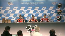 Les trois premiers de l' #AragonGP se sont confiés aux médias durant la conférence de presse post-gp.