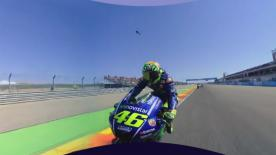 Enjoy the superb battle between the two Movistar Yamaha MotoGP teammates at the #AragonGP