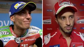 MotoGP™ riders give us feedback on their race results at the #AragonGP.