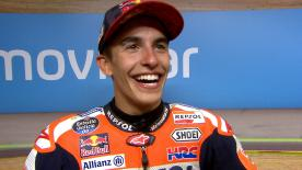 The Spanish rider won at Aragon in a race where his title contenders were not on the podium
