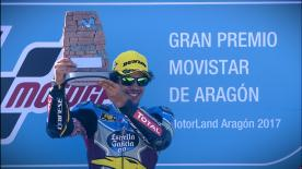 Franco Morbidelli extended his Championship after a superb battle with Mattia Pasini who finished second, with Oliveira third