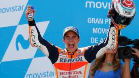 Marc Marquez took his fifth victory of 2017 at the #AragonGP, whilst his nearest title rival Andrea Dovizioso was only seventh