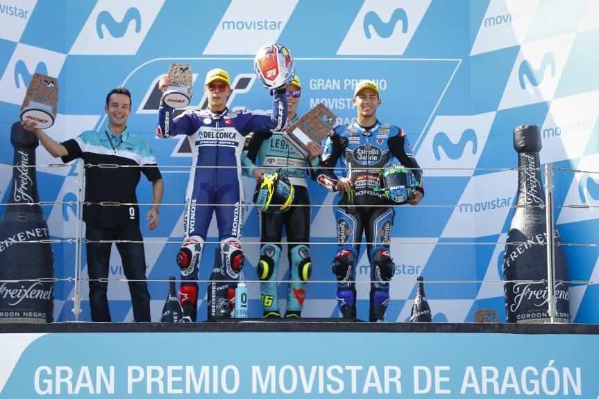 Joan Mir, Fabio Di Giannantonio, Enea bastianini, Gran Premio Movistar de Aragón