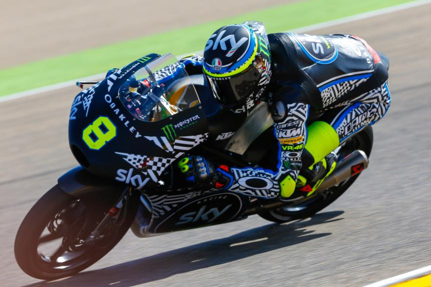 Nicolo Bulega, Sky Racing Team VR46, Aragón Official Test, Moto2 - Moto3