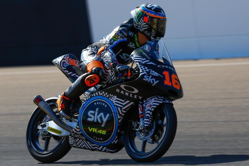 Andrea Migno, Sky Racing Team VR46, Aragón Official Test, Moto2 - Moto3