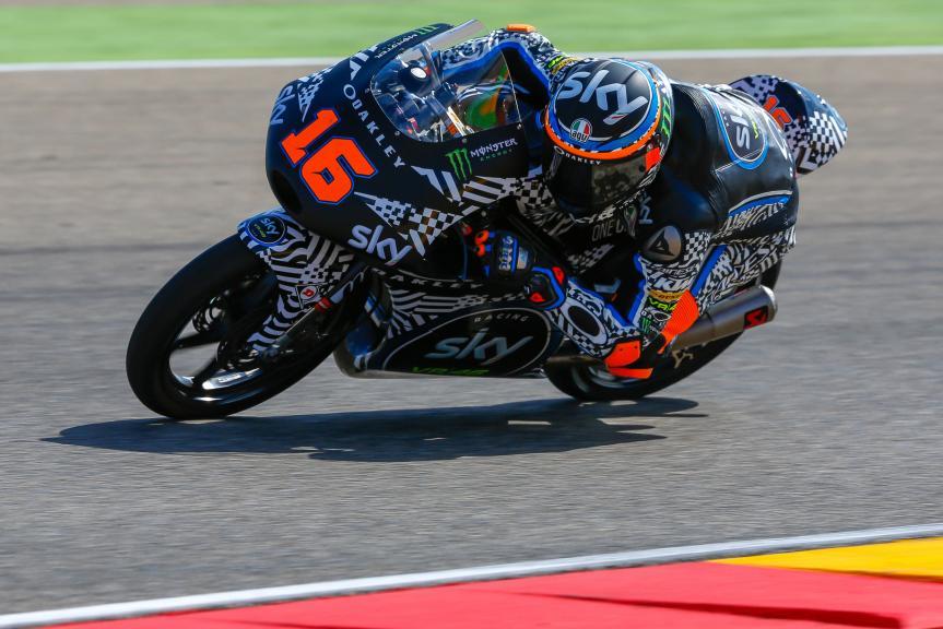 Andrea Migno, Sky Racing Team VR46, Aragón Official Test, Moto2 - Moto3