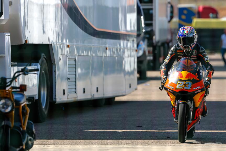 Niccolo Antonelli, Red Bull KTM Ajo, Aragón Official Test, Moto2 - Moto3