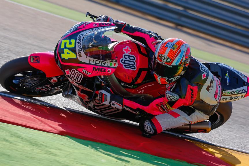 Simone Corsi, Speed Up Racing, Aragón Official Test, Moto2 - Moto3