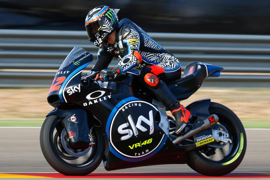 Francesco Bagnaia, Sky Racing Team VR46, Aragón Official Test, Moto2 - Moto3
