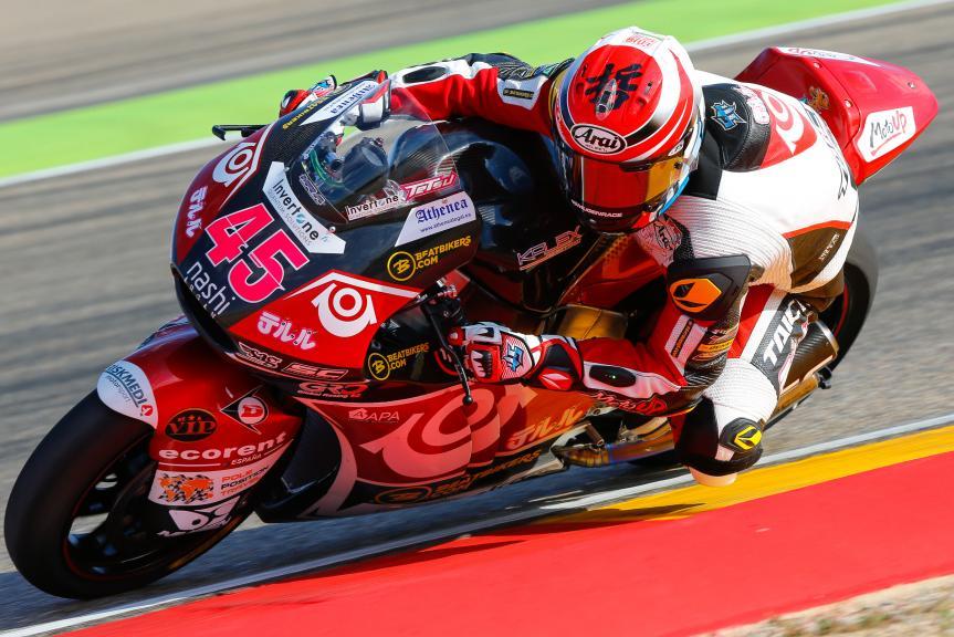 Tetsuta Nagashima, Teluru SAG Team, Aragón Official Test, Moto2 - Moto3