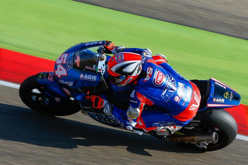 Mattia Pasini, Italtrans Racing Team, Aragón Official Test, Moto2 - Moto3