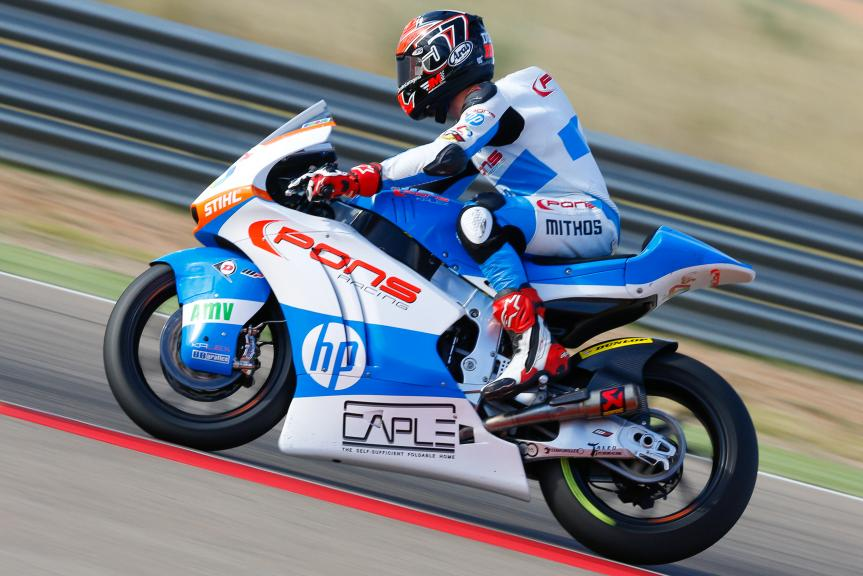 Edgar Pons, Pons HP40, Aragón Official Test, Moto2 - Moto3