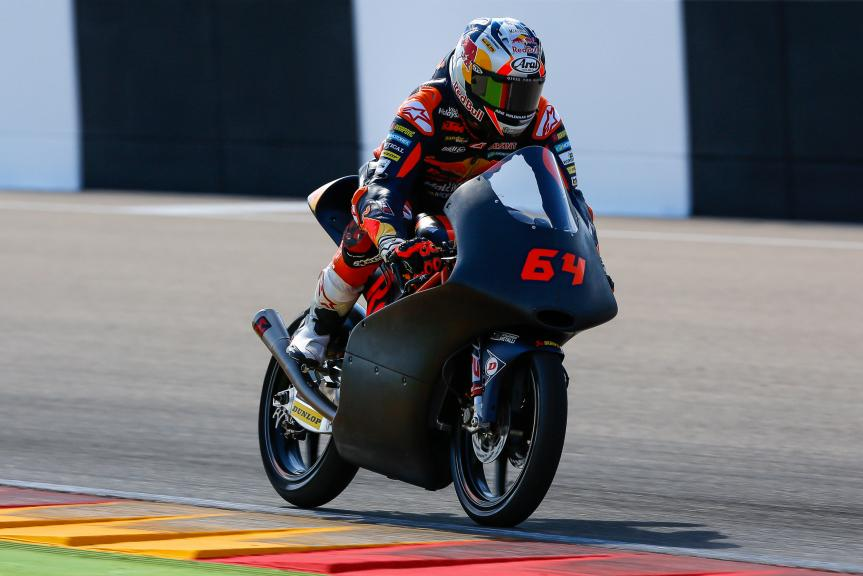 Bo Bendsneyder, Red Bull KTM Ajo, Aragón Official Test, Moto2 - Moto3