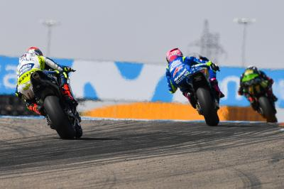 Rins and Barbera split by 0.074 seconds over the line