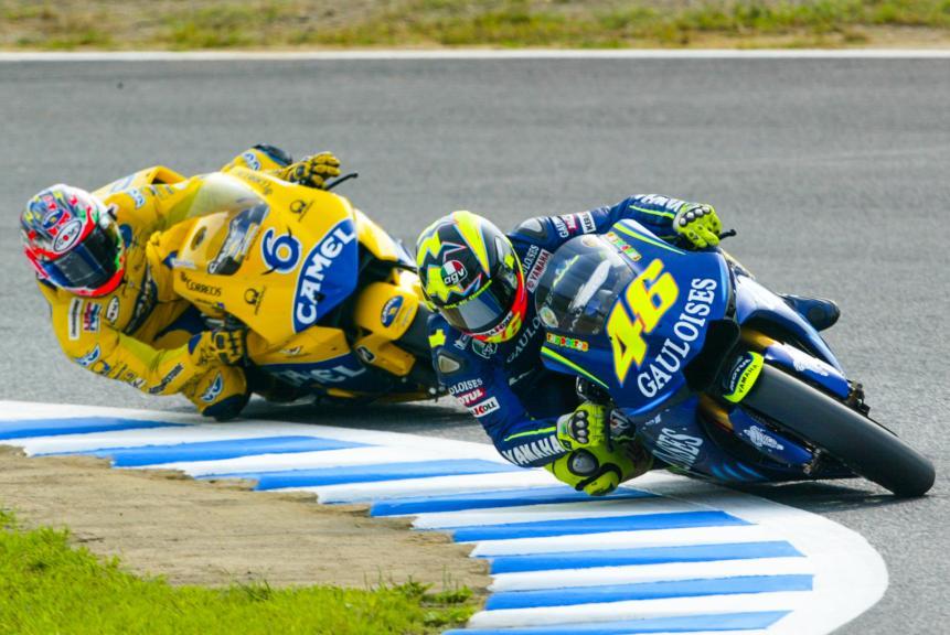 Valentino Rossi, Makoto Tamada, Motegi, 2004