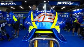 Team Suzuki ECSTAR unveiled their brand new aerodynamic fairing at the Twin Ring Motegi, which will be used by Rins and Iannone this weekend