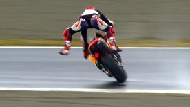 The Repsol Honda rider unfortunately crashed at the end of Free Practice 2 at the Twin Ring Motegi