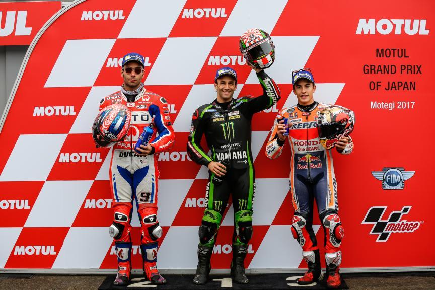 Johann Zarco, Danilo Petrucci, Marc Marquez, Motul Grand Prix of Japan
