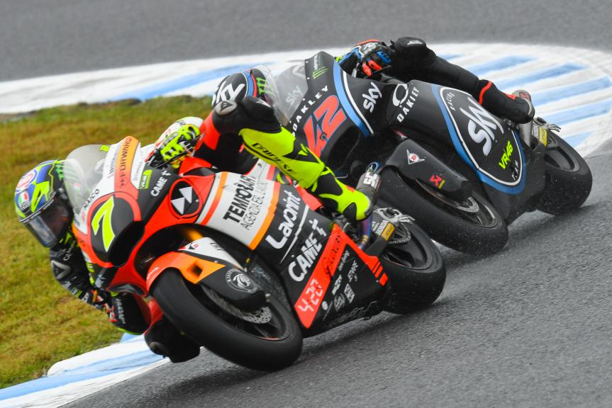 Lorenzo Baldassari, Forward Racing Team, Francesco Bagnaia, Sky Racing Team VR46, Motul Grand Prix of Japan