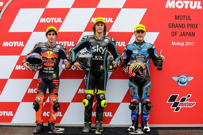 Nicolo Bulega, Niccolo Antonelli, Aron Canet, Motul Grand Prix of Japan