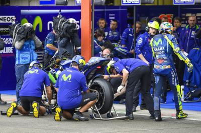 Marquez & Rossi über das Risiko, Slicks zu verwenden