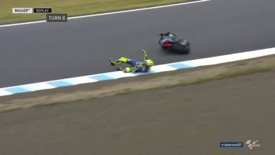 Rossi tips off in FP4 #JapaneseGP