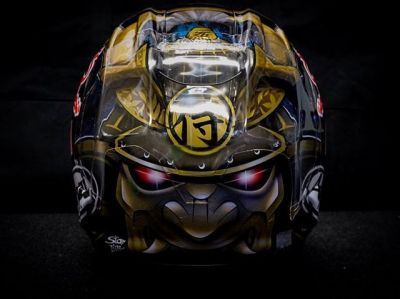 Happy to share my special Arai helmet for this weekend's