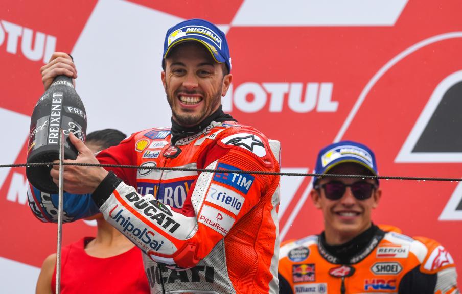 Andrea Dovizioso, Ducati Team, Marc Marquez, Repsol Honda Team, Motul Grand Prix of Japan