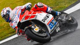 Andrea Dovizioso led Friday at the Twin Ring Motegi finishing in front of his title rival Marc Marquez, with Aleix Espargaro third