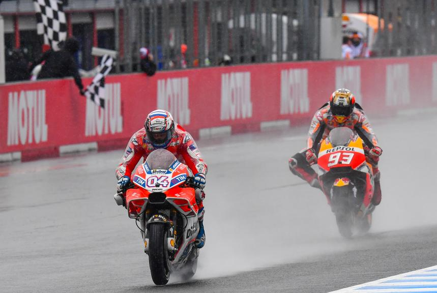 Andrea Dovizioso, Ducati Team, Marc Marquez, Repsol Honda Team, Motul Grand Prix of Japan