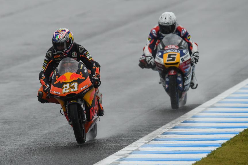 Romano Fenati, Marinelli Rivacold Snipers, Niccolo Antonelli, Red Bull KTM Ajo, Motul Grand Prix of Japan