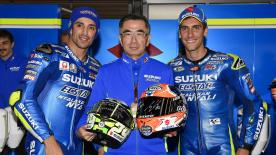After a trying season in 2017, Team Suzuki ECSTAR achieved their best result of the year as Iannone and Rins finished fourth and fifth