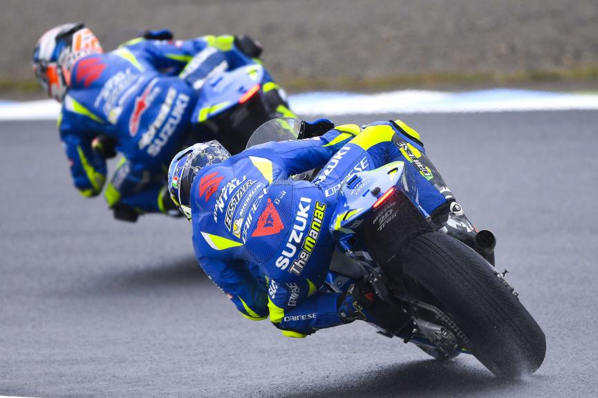 Alex Rins, Andrea Iannone, Team Suzuki Ecstar, Motul Grand Prix of Japan