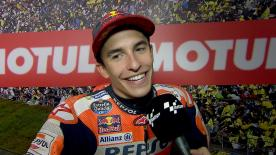 The Repsol Honda rider dueled for the race on the last lap, but over the line it was Dovizioso who won the #JapaneseGP