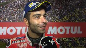 The Pramac Racing rider got another podium this season - and after leading half the race