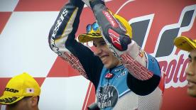 The Spanish rider took his first win off of home soil at the Twin Ring Motegi with Vierge and Syahrin completing the podium