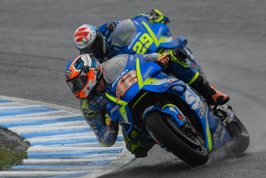 Alex Rins, Andrea Iannone, Team Suzuki Ecstar, Motul Grand Prix of Japan
