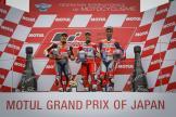 Andrea Dovizioso, Marc Marquez, Danilo Petrucci, Motul Grand Prix of Japan