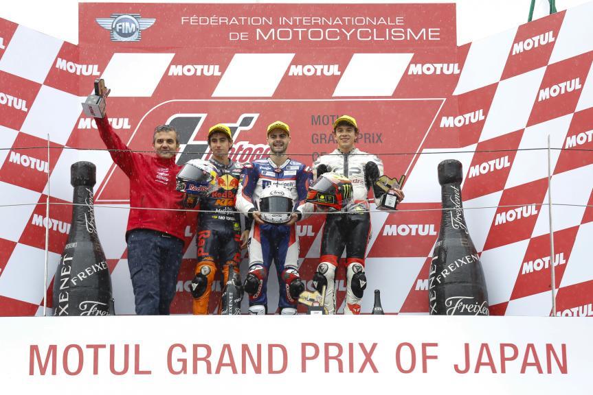 Romano Fenati, Niccolo Antonelli, Marco Bezzecchi, Motul Grand Prix of Japan